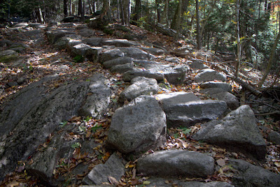 Rock steps on the M-M Trail