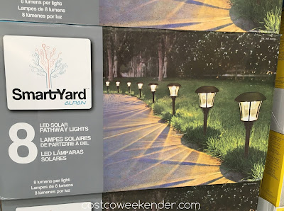 Make your home's entrance well lit with the SmartYard LED Solar Pathway Lights model 10192