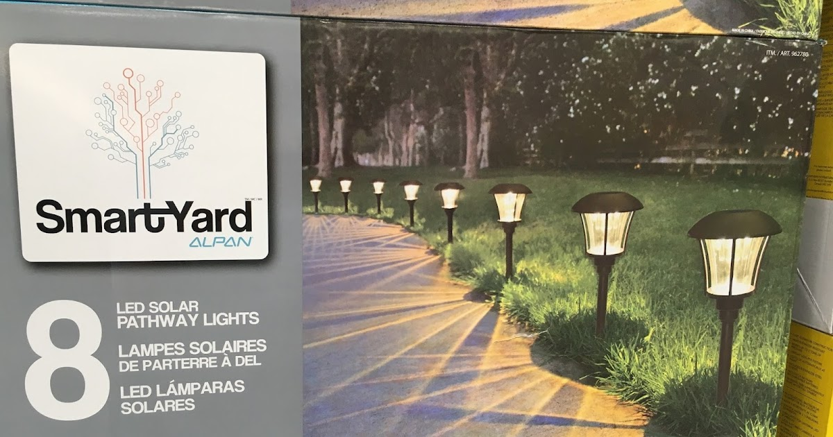 Smartyard Led Solar Pathway Lights Model 10192 8 Pack