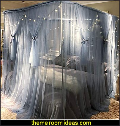 Mosquito Bed Canopy Net - Luxury Canopy netting   Hollywood glam themed bedroom ideas - Marilyn Monroe Old Hollywood Decor - Hollywood Vanity Mirrors - Hollywood theme decor- decorating Hollywood glam style bedrooms - Hollywood glam furniture  - Hollywood At Home - Lighted Make-up Vanity - mirrored furniture
