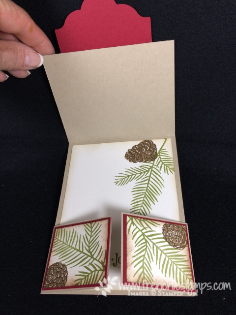 Double Dutch Fold, Fancy Fold, Christmas Pines, Stampin'Up!, Frenchiestamps, Glitter Card,
