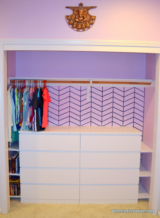 Closet Organization Using Ikea Malm Dressers