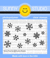 Sunny Studio Stamps: Snow Flurries Mini Snowflake 2x3 Background Stamp Set
