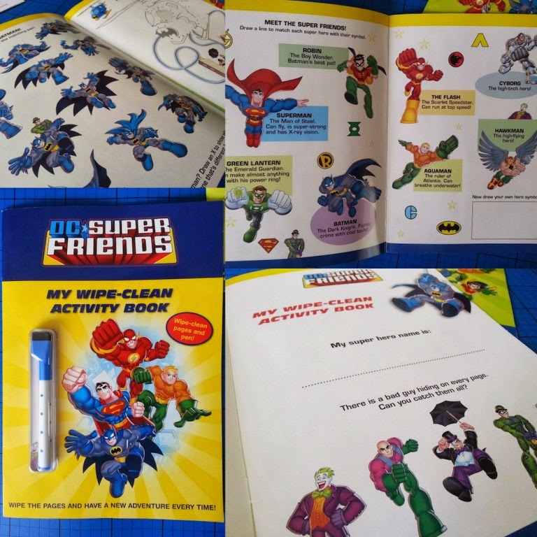 Young childs book DC Super Friends drawing writing