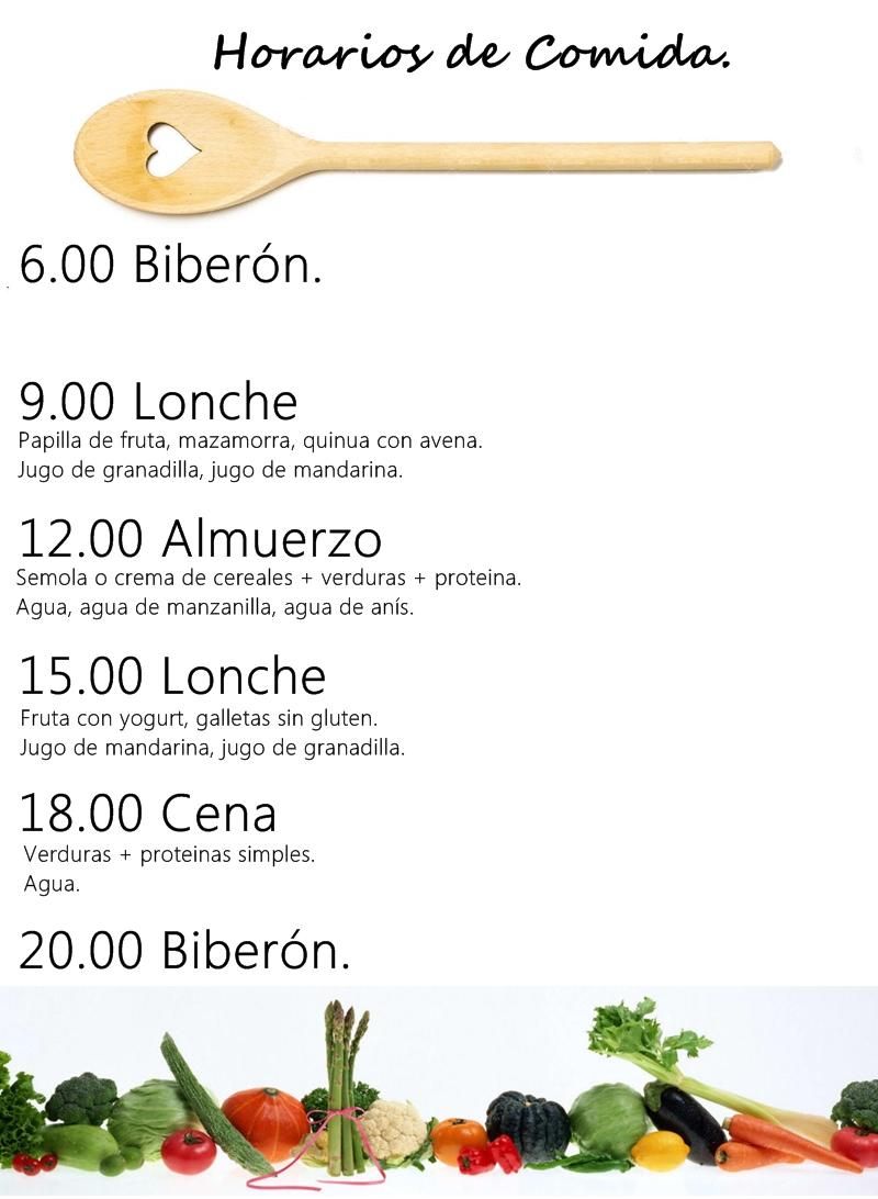 horarios de comida para bebes de 15 meses