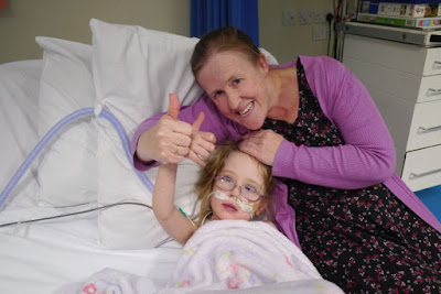 Jessica and Godmummy Katy giving a big thumbs up