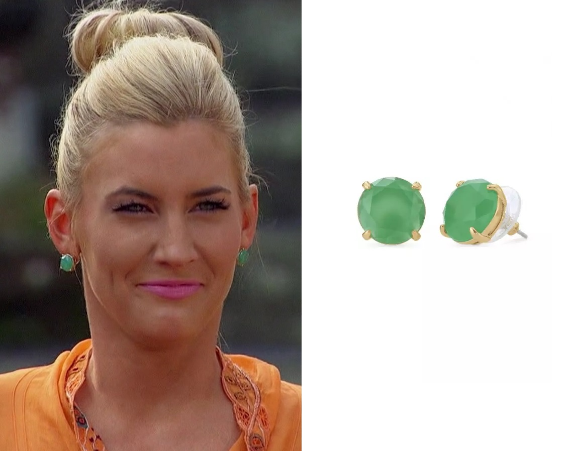 Whitney in the Stella & Dot Janice Studs (Green) on The Bachelor