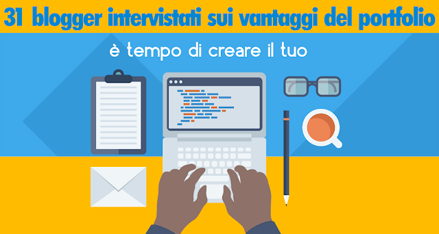 portfolio blogger blogging blog web writing lavoro