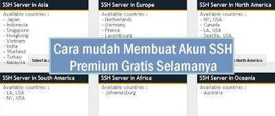 cara membuat akun SSH gratis selamanya