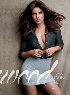 Priyanka Chopra Super Hot Bra Less Side Boobs Visible in GQ Magazine September 2016