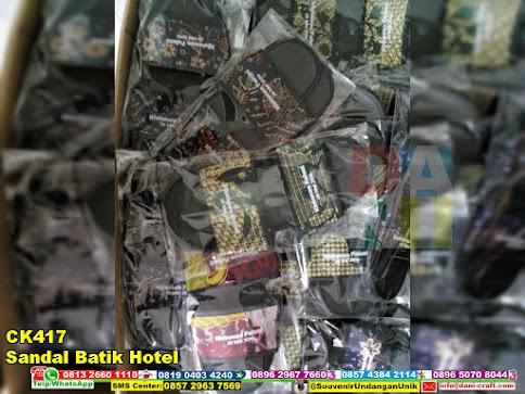 jual Sandal Batik Hotel