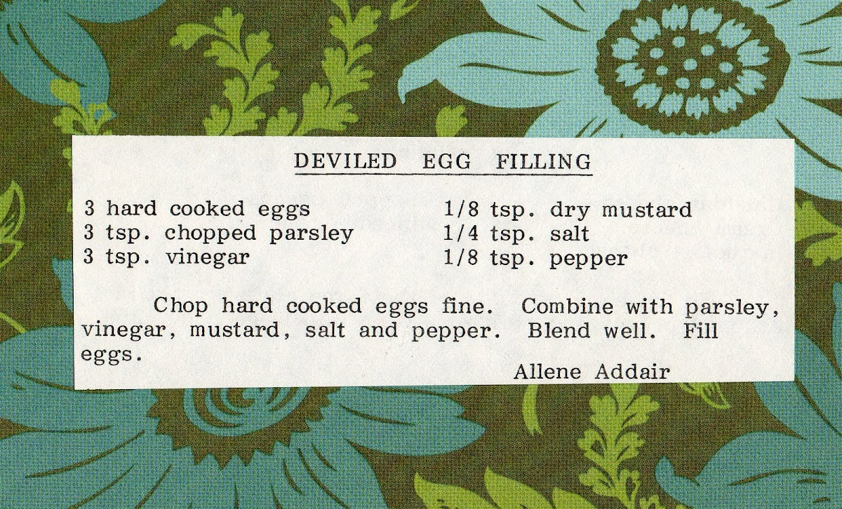 Deviled Egg Filling (quick recipe)