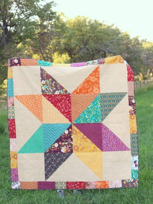 Giant Vintage Star - Quilt Tutorial