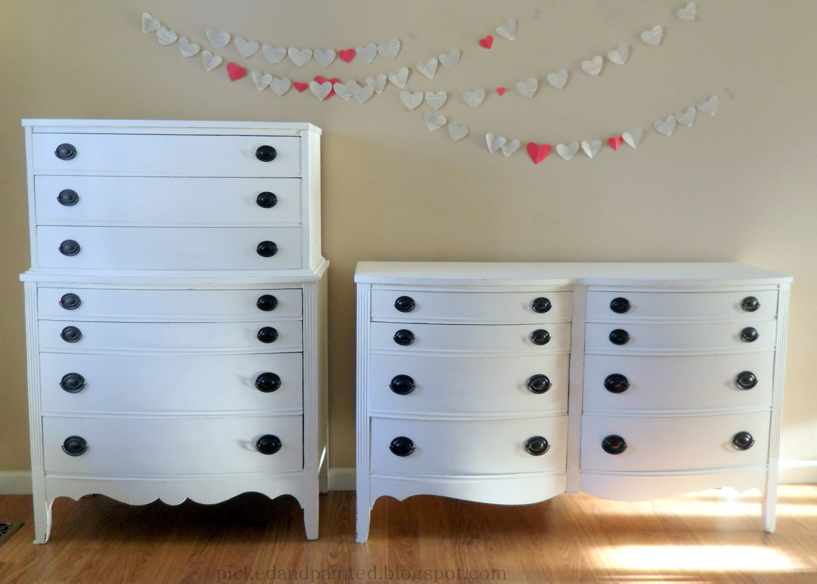 Helen Nichole Designs Hepplewhite Dressers In Swiss Coffee