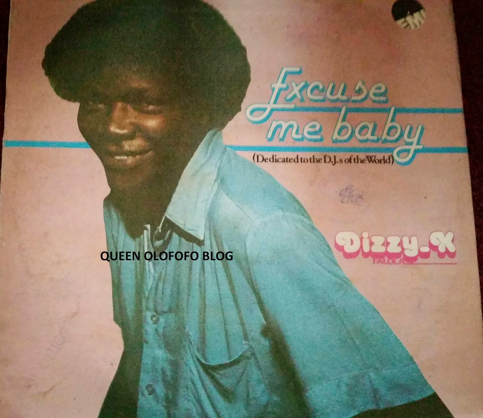 dizzy k falola was excusing all the ladies with excuse me baby