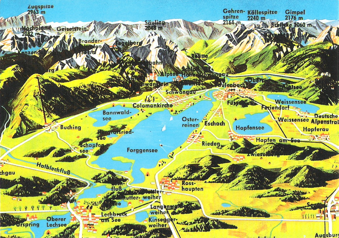 Map Of Germany Mountains.Map Cards Hunting 0089 Germany Mountains