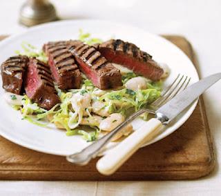 seared steak with creamy beans recipe