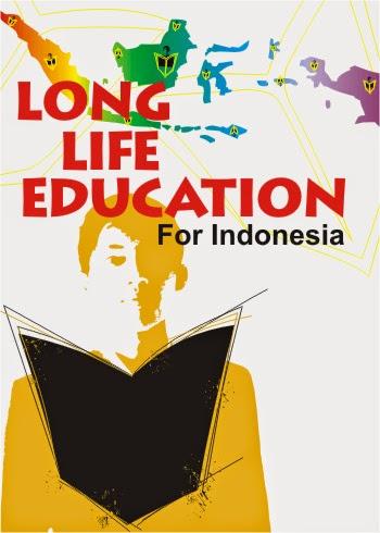 """Contoh poster pendidikan """"Belajar Sepanjang Masa"""""""