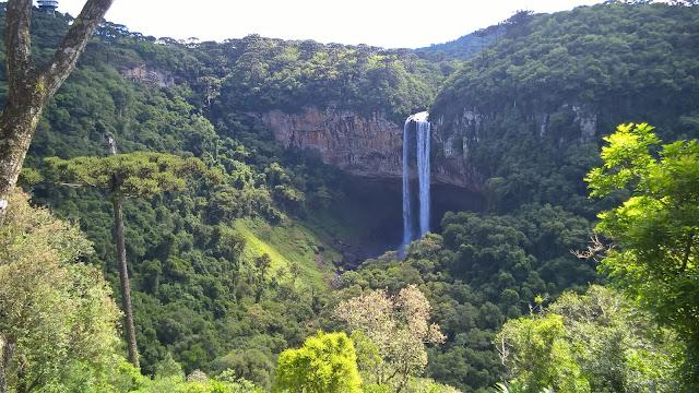 Vista da Cascata do Caracol, Bondinhos Aéreos, Serra Gaúcha