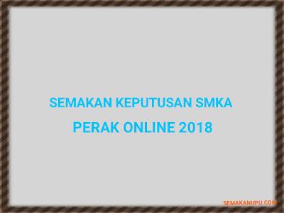 Semakan Keputusan SMKA Perak Online 2018
