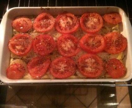 Potato and tomato tatin