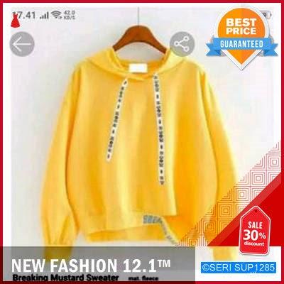 SUP1285B11 Breaking Swaeterhoodie Sweater Wanita Kuning Murah BMGShop