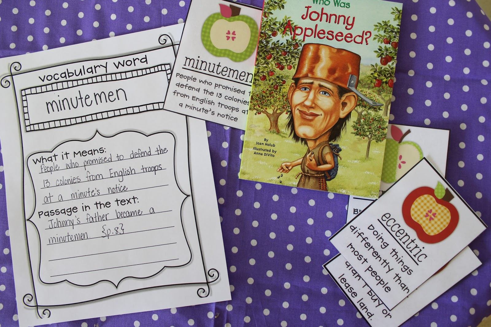 Life In Fifth Grade Johnny Appleseed Guided Reading Activities