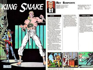 Rey Serpiente Ficha DC Comics