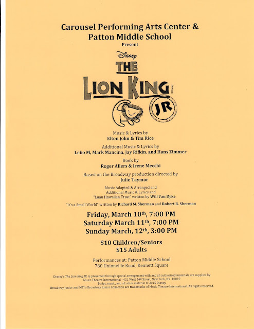 CFPMS Lion King Flyer
