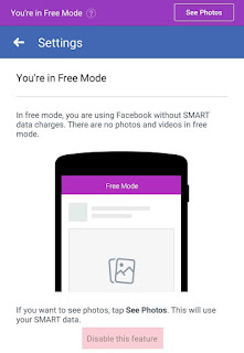 Disable Facebook Free Mode