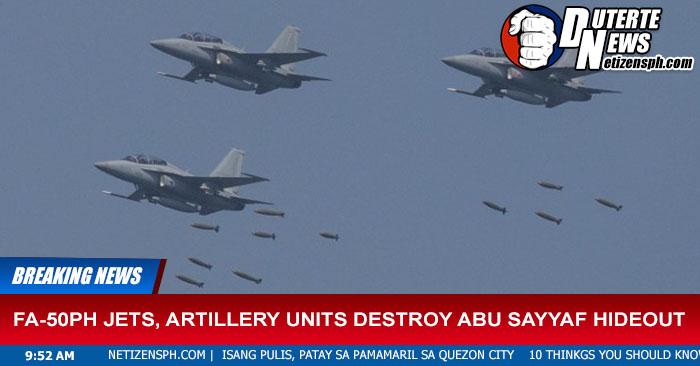 FA-50PH Jets, Artillery Units Destroy Abu Sayyaf Hideout