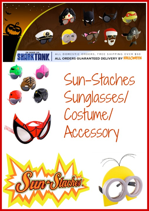 Sun-Staches sunglasses and costume accessory