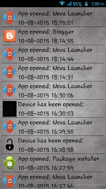recording app activities