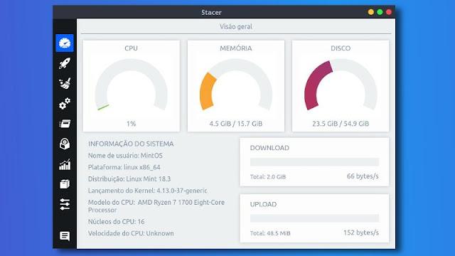 Stacer - Otimizador para Linux