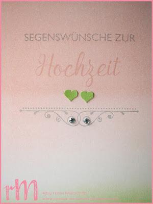 Stampin' Up! rosa Mädchen Kulmbach: Stamp A(r)ttack Blog Hop: Kirchliche Feste - Hochzeitskarten im Ombre Look mit Segensfeste