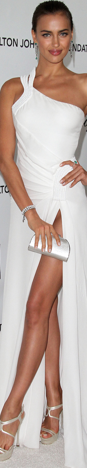 Irina Shayk in Versace 2012 Elton John Oscar Party