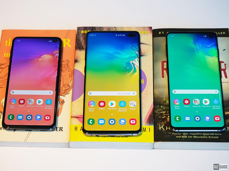 Samsung Galaxy S10e, S10+, and S10