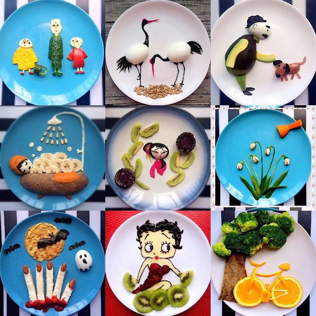 картини з фруктів і овочів для дітей смачні сніданки