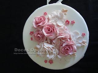 bolo flores doces opções