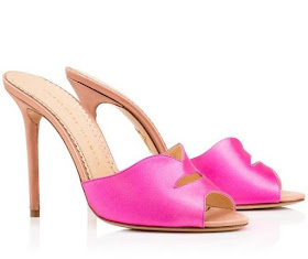 Charlotte Olympia Pink Lip-strap sandals