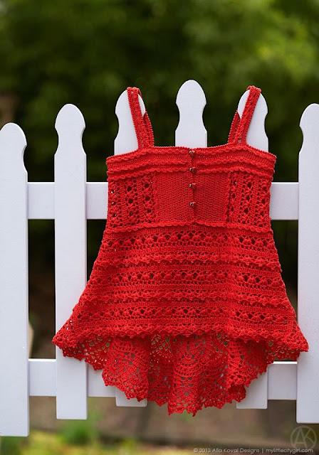 darmowy wzory sukieneczek szydelkiem