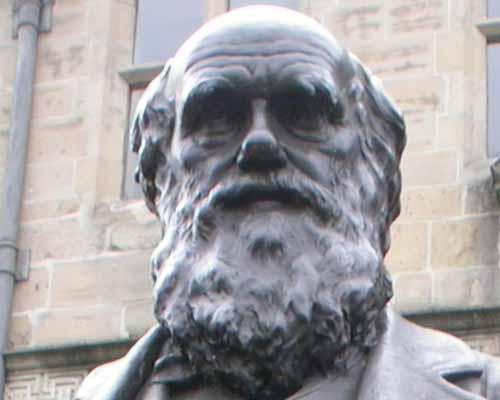 Estatua Charles Darwin
