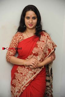 Kannada Actress Lakshmi Hegde Pos in Red Saree at Tab Movie Press Meet  0005.jpg
