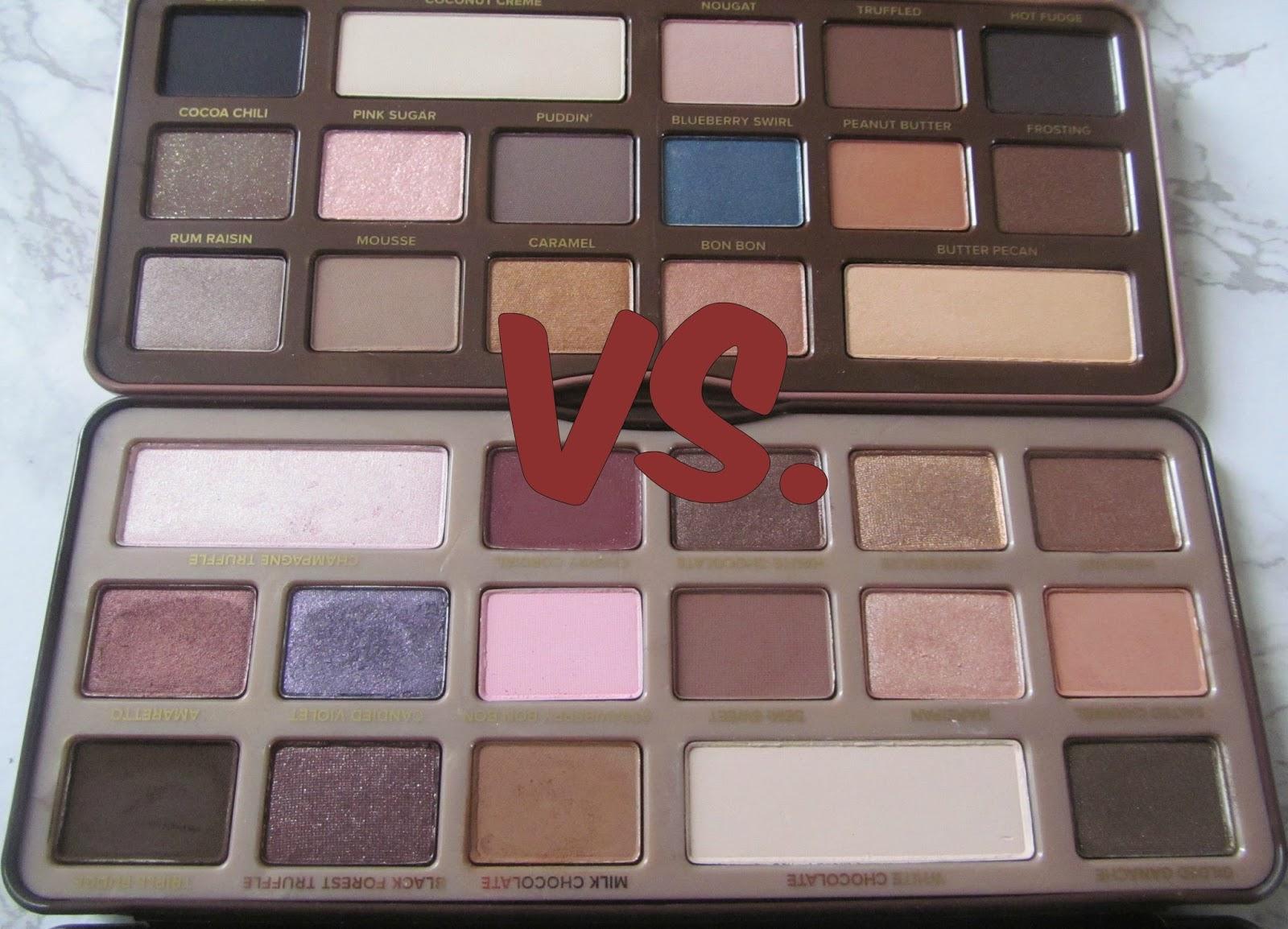 Palette Wars: Too Faced\'s Chocolate Bar VS. Semi Sweet Chocolate ...