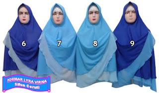 Jilbab khimar bolak balik dua warna murah edisi  bulan ke 3