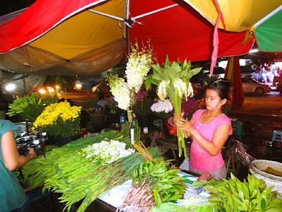 Flower night market in Chinatown at Maha Bandoola