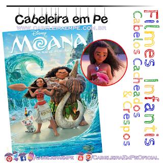 Fime Infantil - Personagem Cacheada Princesa Moana no desenho animado Moana - Um mar de aventuras
