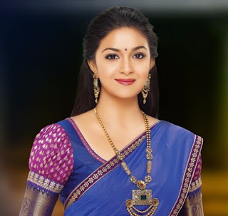Mana Keerthy Suresh: Keerthy Suresh in Saree with Cute and Lovely Smile