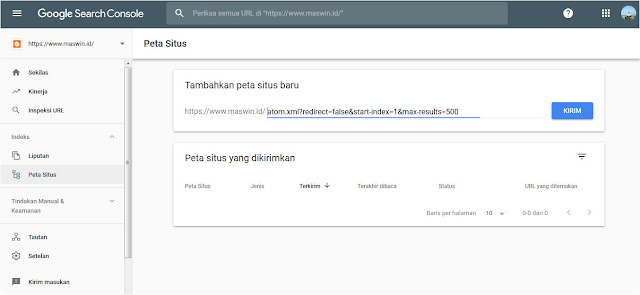 Cara Membuat Sitemap XML Blogger untuk SEO pada Google Webmaster Tool
