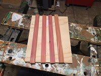 Cedar strips for the lid sides
